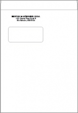 X Imprinted Catalog Window Envelope White Wove - 9x12 booklet envelope template